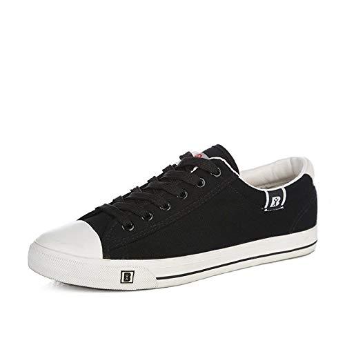 Hasag Zapatos de Lona Zapatos Deportivos Zapatos de Mujer Modelo par de Zapatos de Mujer Color Sólido Zapatos Casuales black