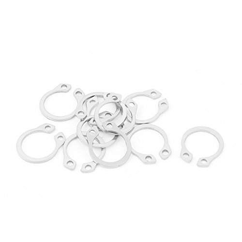 External Circlip Retaining Shaft Snap Clip Rings 12mm 10pcs