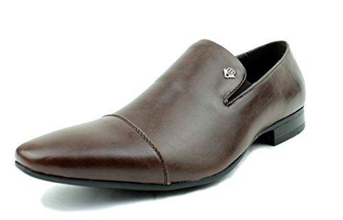 hombre sin cierres Mocasines De Vestir Estilo Italiano Zapatos Piel Sintética REINO UNIDO 6-11 - sintético, Marron, 23 EU: Amazon.es: Zapatos y complementos