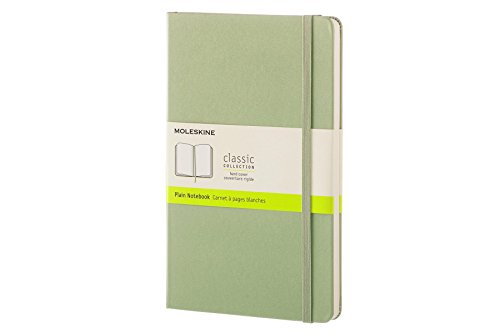 Moleskine Classic Notebook  Large  Plain  Willow Green  Hard Cover  5 X 8 25