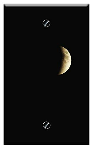 Single-Gang Blank Wall Plate Cover - Eclipse Lunar Moon Astronomy Space Night Sky