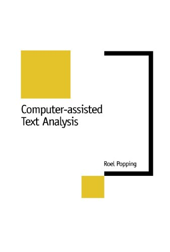 Computer-Assisted Text Analysis (New Technologies for Social Research series)