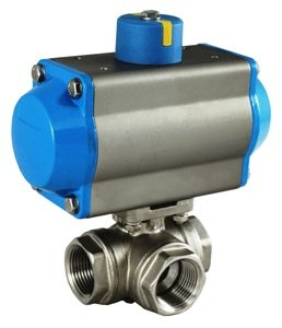 Actuated 3 Way Stainless Valve (3/4
