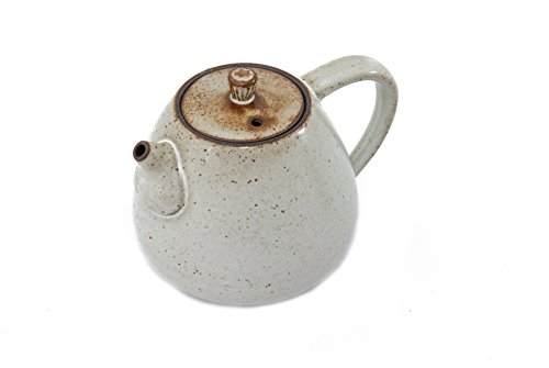 Handmade Chinese Gongfu Ceramic Teapot For One (Sand Color) - Small (175ml - 5.92 oz) (Sand) - Uniquely Designed by Bamboo Mist Tea - Perfect Gift for Tea Lovers - Cute Single Person Size
