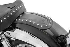 - Mustang Studded Black Fender Bibs for 2003-2008 Kawasaki Vulcan 1600
