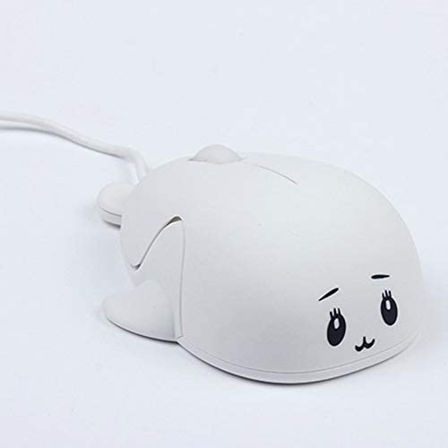 Color : White Gaming Mice Pink KANEED Cute Cartoon Wired Mouse Girl Office Home Laptop Mouse