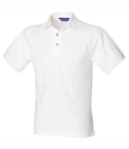 Henbury Herren S/S Ultimate 65/35 Polo Shirt Weiß XXL