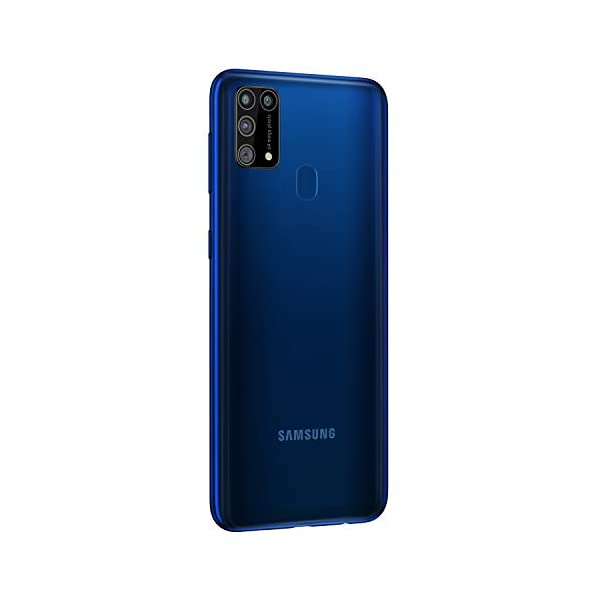 Samsung Galaxy M31 (Ocean Blue, 6GB RAM, 128GB Storage) 2021 August Quad Camera Setup - 64MP (F1.8) Main Camera +8MP (F2.2) Ultra Wide Camera +5MP(F2.2) Depth Camera +5MP(F2.4) Macro Camera and 32MP (F2.0) front facing Camera 6.4-inch(16.21 centimeters) Super Amoled - Infinity U Cut Display , FHD+ Resolution (2340 x 1080) , 404 ppi pixel density and 16M color support Android v10.0 operating system with 2.3GHz + 1.7GHz Exynos 9611 Octa core processor , 6GB RAM, 128GB internal memory expandable up to 512GB and dual SIM