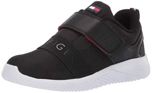 Tommy Hilfiger Kids' Cadet Strap Sneaker, Black-t, 11 Child US Little (Hilfiger Kids)