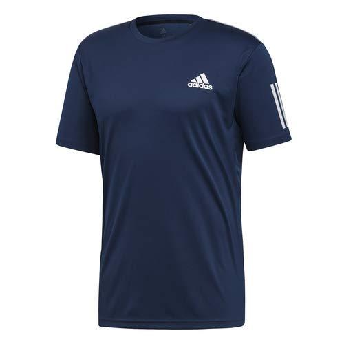 Team Tennis Tee - adidas Men's Club 3-Stripes Tennis Tee, Collegiate Navy/White, X-Large