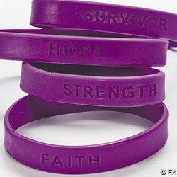 72 bracelets en silicone VIOLET DE CONSCIENCE DE CANCER (72 pour recevoir la commande)