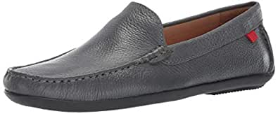 MARC JOSEPH NEW YORK Mens Genuine Leather Made in Brazil Broadway Loafer, Grey Grainy 7 D(M) US