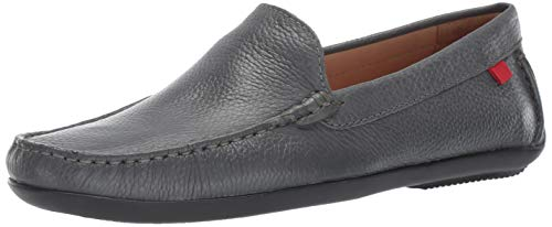 Broadway Leather - Marc Joseph New York Mens Genuine Leather Made in Brazil Broadway Loafer, Grey Grainy 9.5 D(M) US