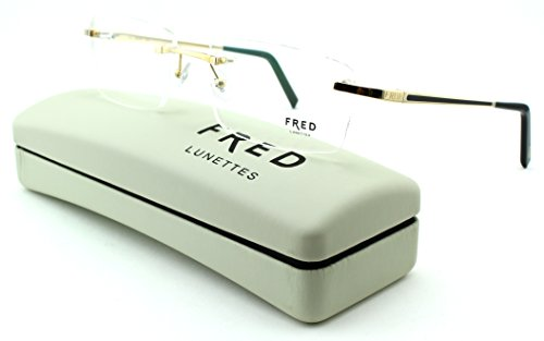 FRED 8361 Hauban F2 Unisex Hand Made Metal Eyeglasses (Champagne Noir Frame 005, 57)