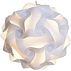 Happyi Puzzle Lights Modern Lamp Shade (Medium-30cm, White)