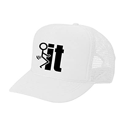 Epic Designs Funny Trucker Hat - F it - Cool Stylish Apparel accessories