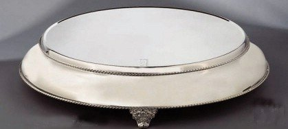 Lovely Round 18u0026quot; Beaded Silver Wedding Cake Stand Baker Cater Design Inspirations