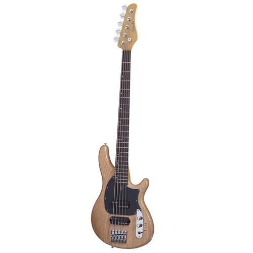 Schecter 2493 5-String Bass Guitar, Gloss Natural Bass Guitar Natural Gloss