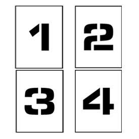 Individual Character Stencils 8'' - Number Set 0-9 (PMN8)