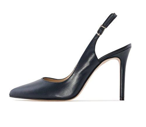 EDEFS - Zapatos con correa de tobillo Mujer azul marino
