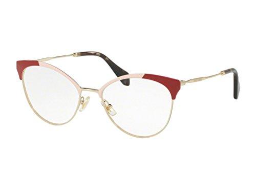 Miu Miu Women's Colorblock Glasses, Red/Clear, One - Glasses Miu Red Miu