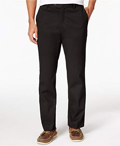 Elba Light Two (Tasso Elba Mens Light Fabric Regular Fit Chino Pants Black 36/32)