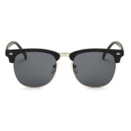 UV400 unisexe soleil clair Noir Voyage monture Film Couleur Protection Meisijia gris Lunettes de Argent Lunettes wf7Wq8Of0H