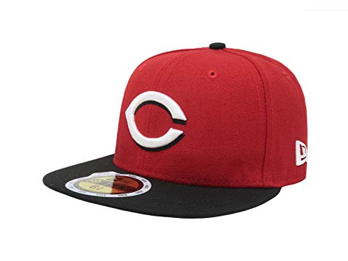 New Era Kids/Youth Cincinnati Reds Authentic Collection 59Fifty Fitted Hat Cap 70367483 (6 3/8 Kids)