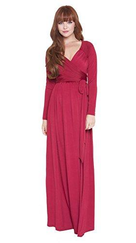 Olian Maternity Maxi Dress (X-Small, Black) by Olian