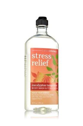 & Body Cleansers Bath (Bath & Body Works Aromatherapy Stress Relief Eucalyptus Tangerine Body Wash 10 Oz.)