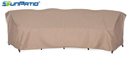 Curved Sectional Sofa (SunPatio Outdoor Crescent Curved Sectional Sofa Cover, 150