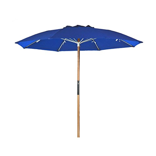 7.5 ft. Avalon Fiberglass Heavy Duty Commercial Grade Beach Umbrella with Ash Wood Pole & Acrylic Fabric