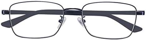 ALWAYSUV Blue Light Filter Computer Glasses for Blocking UV Headache Anti Eye Fatigue Transparent Lens Black