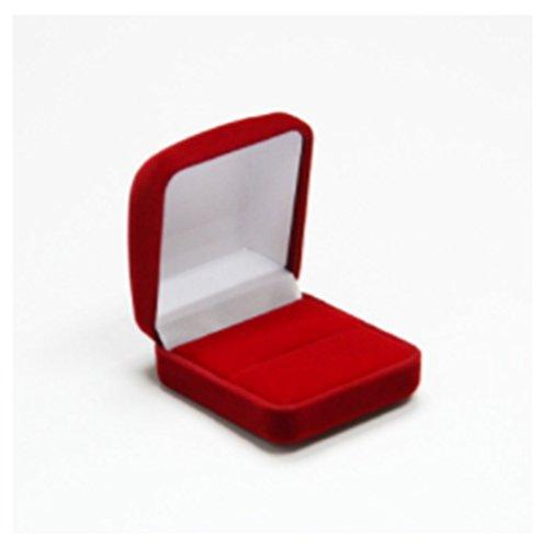 Velvet Red Ring (YouPei Ring Box Velvet Jewelry Gift Box for Ring Earring Holder Wedding Engagement Present(Red))