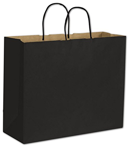 Black Color-on-Kraft Shoppers - Large by EGPChecks