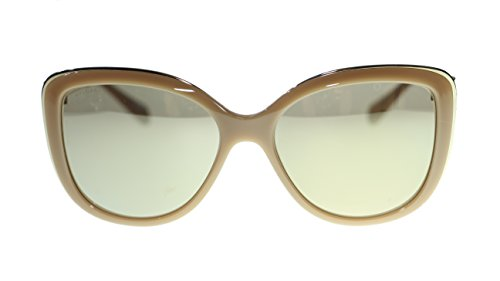 BVLGARI Cay Eye Women's Sunglasses BV6094 278/5A Beige/Light Brown Mirror Gold Lens - Eye Cay