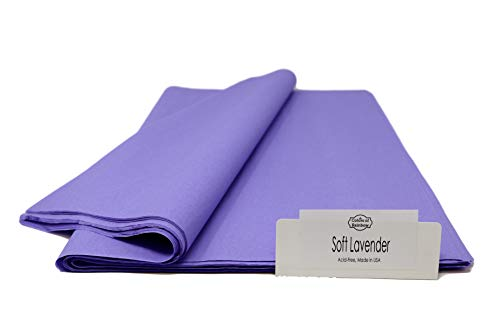 "Soft Lavender - 96 Sheets - Gift Wrapping Tissue Paper 15"" x 20"" - Made in United States by Colors of Rainbow®"