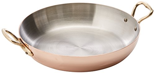 Mauviel Made In France M'Heritage Copper 150b 6527.20 Round Pan with Bronze Handle, 8-Inch ()