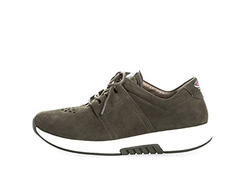 mujer 76 Piel cordones Oscuro de de Zapatos Verde 946 Gabor para 42 TxdqzzH
