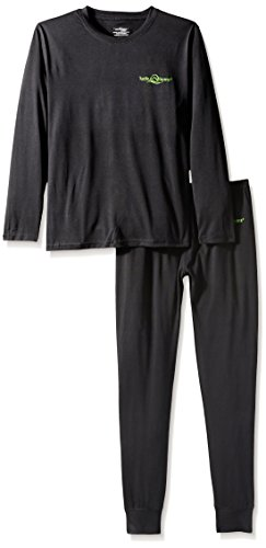 Lucky Bums Kid's Base Layer Long Sleeve Crewneck and Pants Set, Extra Small