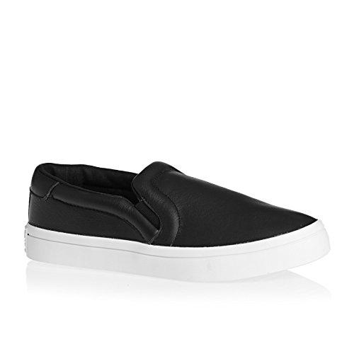 Adidas Originals Trainers - Adidas Originals Courtvantage Slip On W - Core Black/core Black/ftwr White