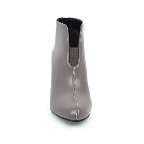 BalaMasa Womens Dress Pointed-Toe Slip-Resistant Urethane Boots ABL09919 Gray wzL50