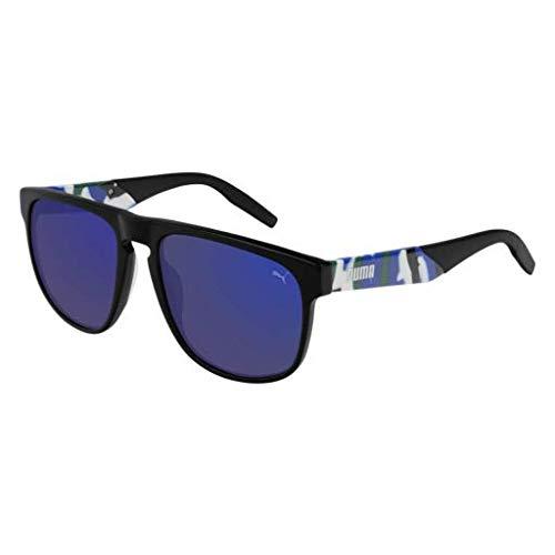 (Sunglasses Puma PU 0225 S- 003 BLACK/BLUE HAVANA)