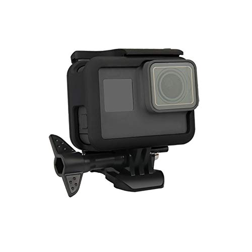 - Camera Frame Mount Compatible with GoPro Hero7 Hero6 Hero5 Black, GOHIGH Protective Housing Border Shell Case Accessories with Quick Pull Movable Socket and Screw