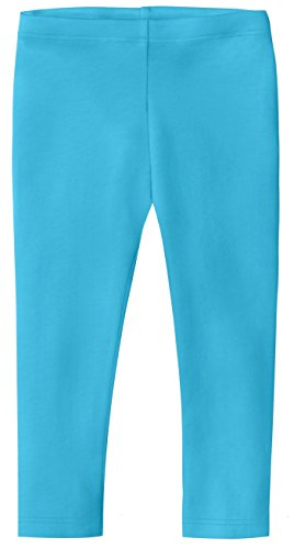 City Threads Baby Girls' Cotton Cropped Capri Summer Legging for Play and School SPD for Sensitive Skin Sensory Friendly, Turquoise, 12-18 m by City Threads (Image #1)