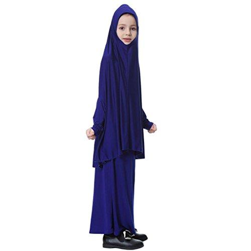 D DOLITY Meisjesmoslim grote overhead Hijab Abaya Jilbab Islam gebed rok voor Hadsch Umrah