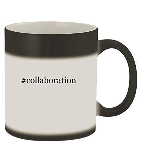 #collaboration - 11oz Hashtag Magic Color Changing Mug, Matte Black (Best Way To Get Ccna)