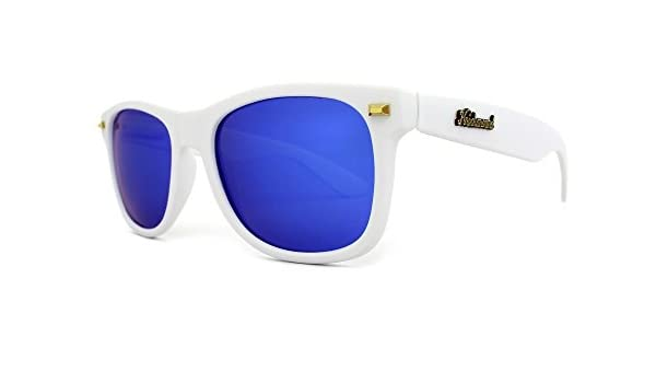 Gafas de sol Knockaround Fort Knocks Matte White / Moonshine POLARIZADAS