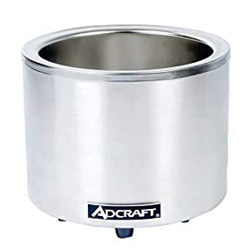 Adcraft FW-1200WR (Base Only) Countertop Food Cooker/Warmer, Stainless Steel, 1200-Watts, 120v