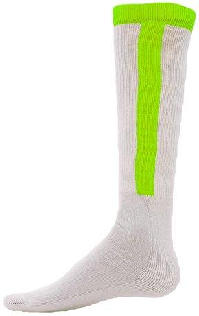 Red Lion Diamond Stirrup Baseball / Softball Tube Sock ( Neon Green - Medium (Red Lion Diamond)